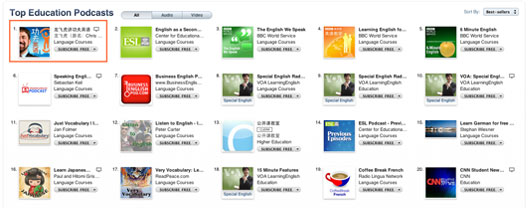 top education podcasts in itunes